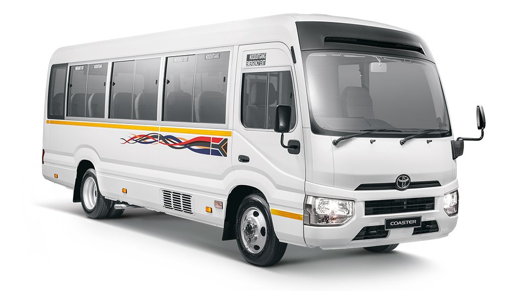 An image of Toyota's new Coaster bus launched in South Africa