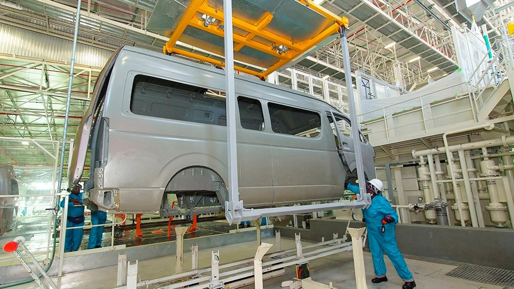 Image of Hiace production at the Toyota Prospecton plant in Durban