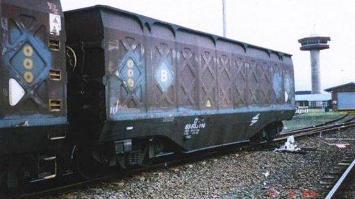 3CR12 grade steel train wagon transporting coal