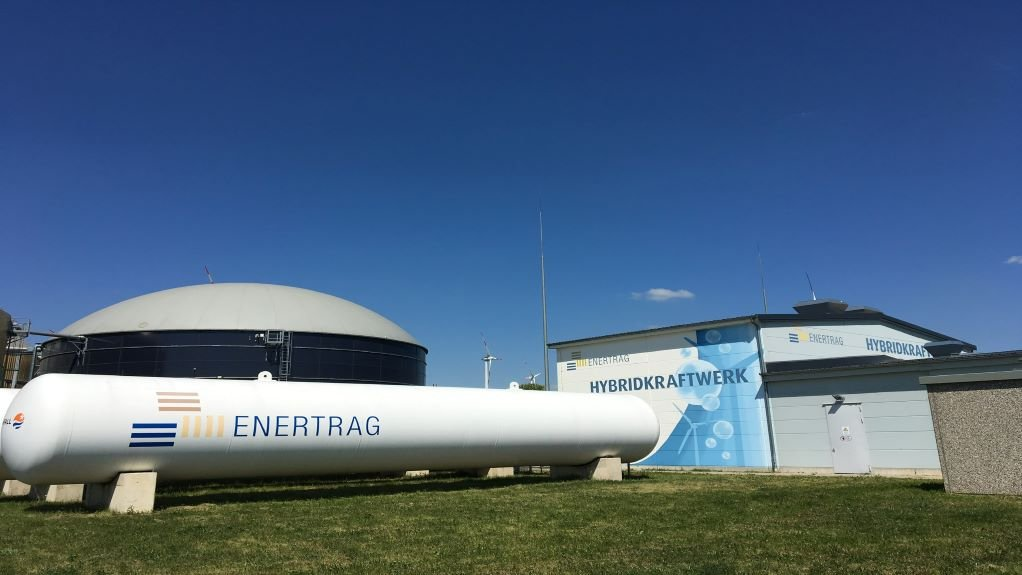 Image of an ENERTRAG green hydrogen facility in Germany