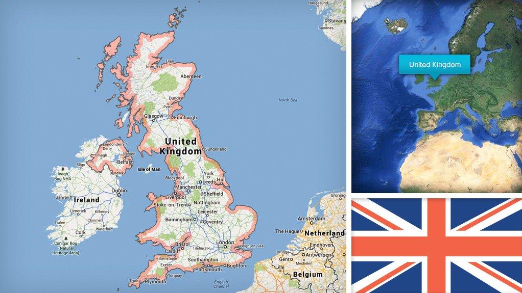 Image UK flag/map