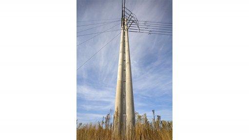 Rocla's spun concrete poles for windfarm