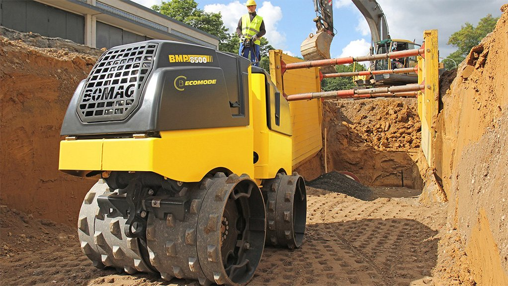Smith Power Equipment BOMAG equipment on construction site