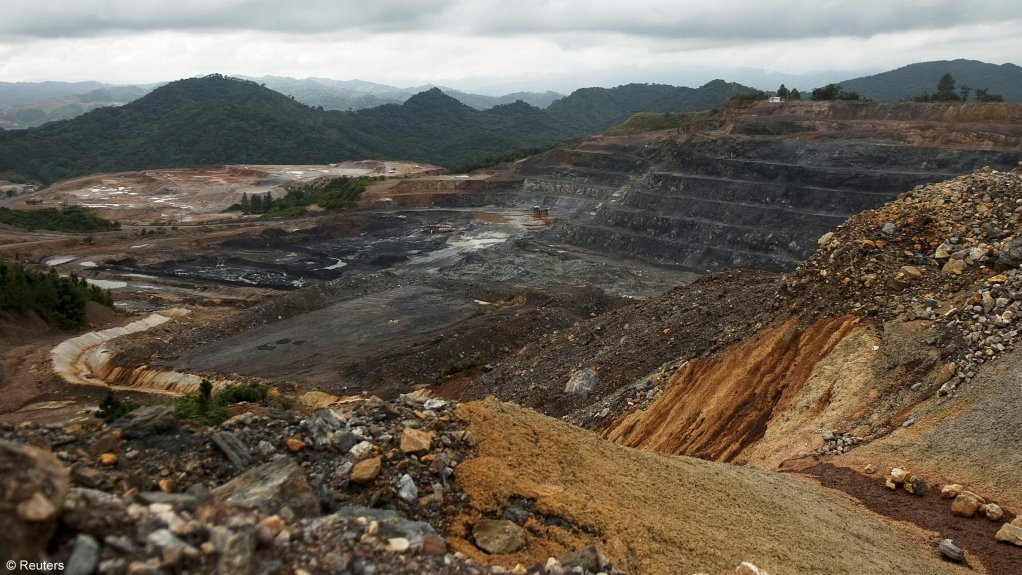 An image of an openpit mining operation in the Dominican Republic.