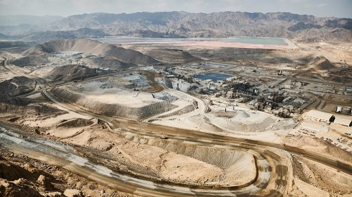 An image of the Sukari openpit gold mine in Egypt