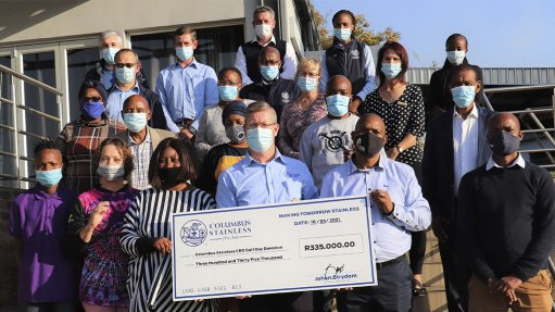 An image of Columbus Stainless CEO Charity Gold day