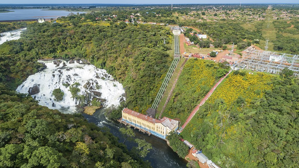 A picture of the Mwadingusha hydropower plant on the Lufira river in the Democratic Republic of Congo.
