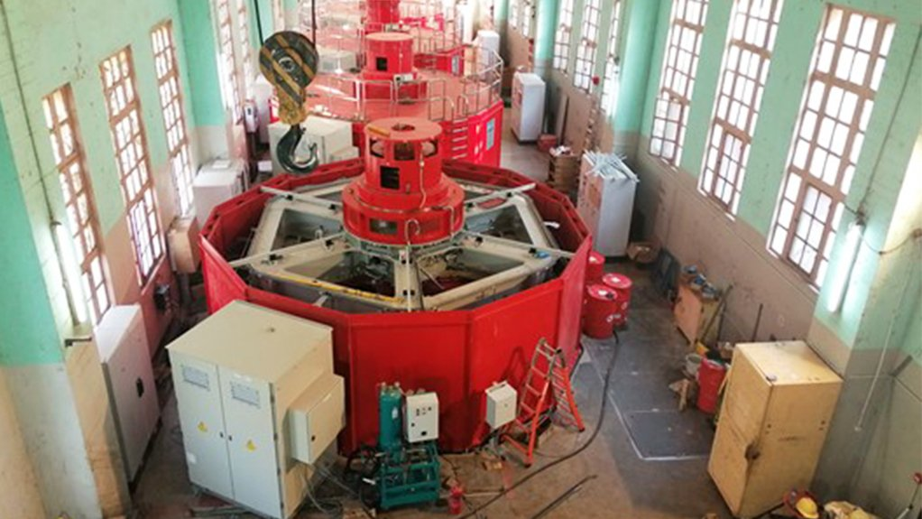 A picture of the Mwadingusha hydropower house. The first unit/turbine started working by 1930.