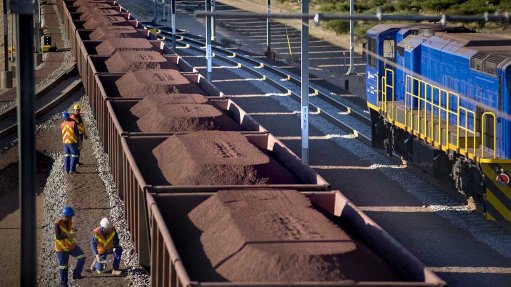Pic of iron ore being shipped.