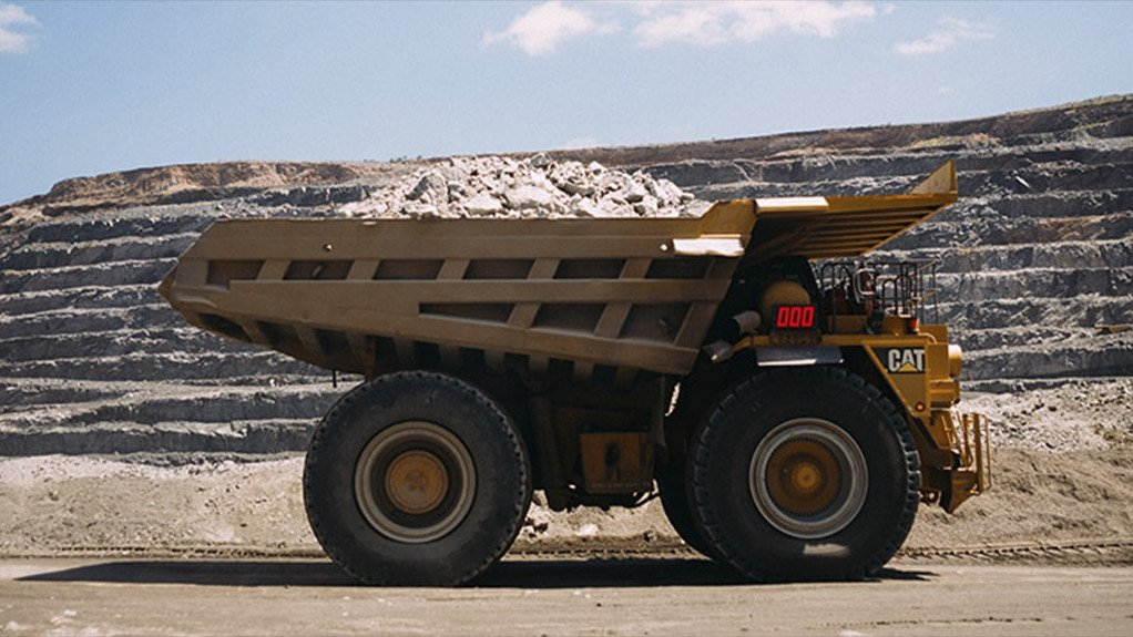 Pic/Image of a tipper at De Beers