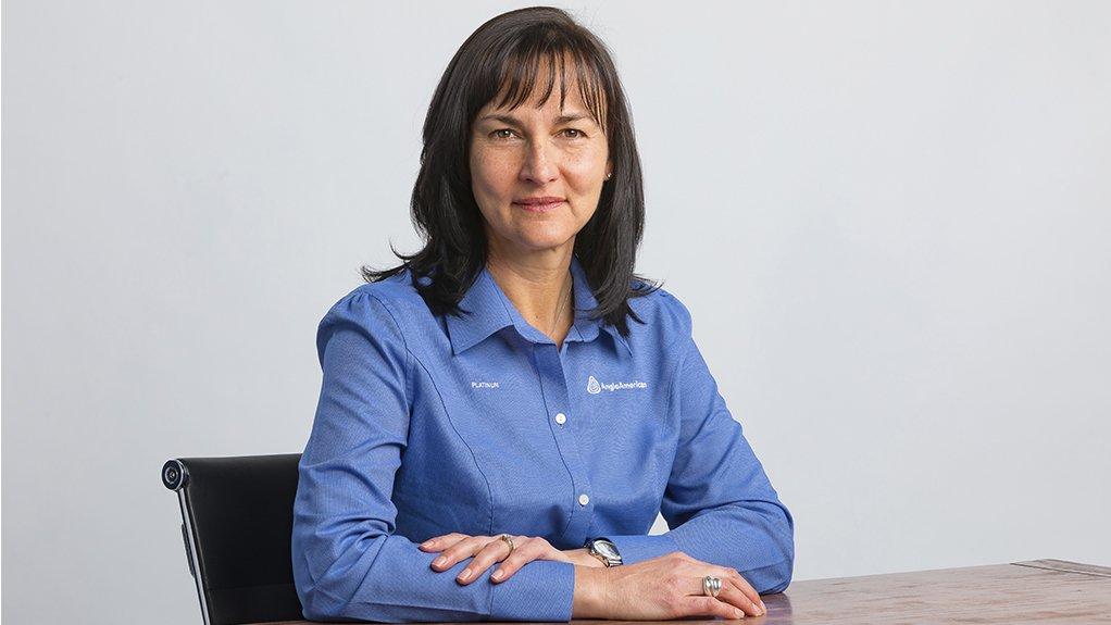 An image of Anglo American Platinum CEO Natascha Viljoen