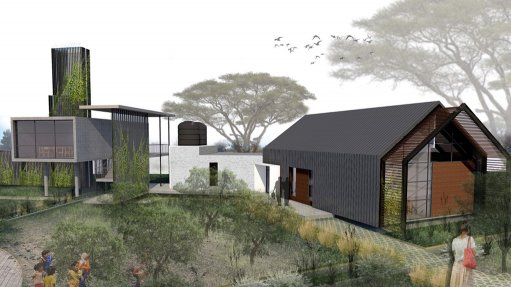 An artist's drawing of the multipurpose lifestyle complex in the small Northern Cape town of Postmasburg