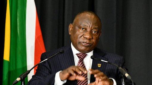 Image of President Cyril Ramaphosa speaking
