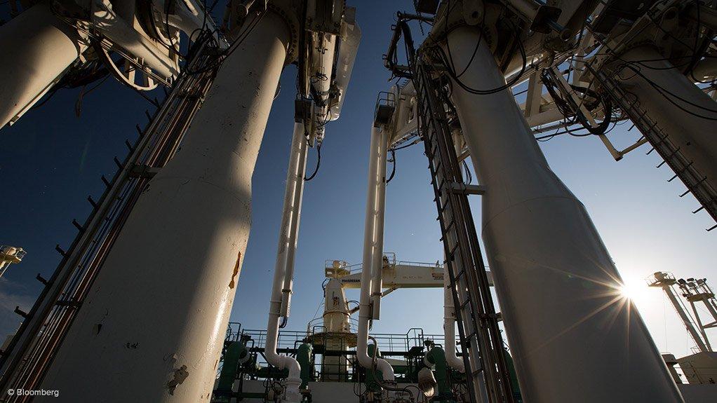 Image shows an LNG production plant