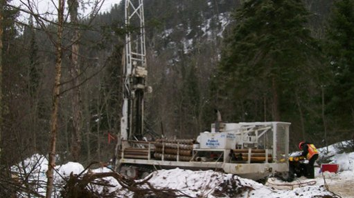 Image showing drilling and exploration work under way in a snowy Ontario, Canada.