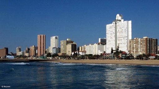 Image of the Durban skyline in the eThekwini municipality