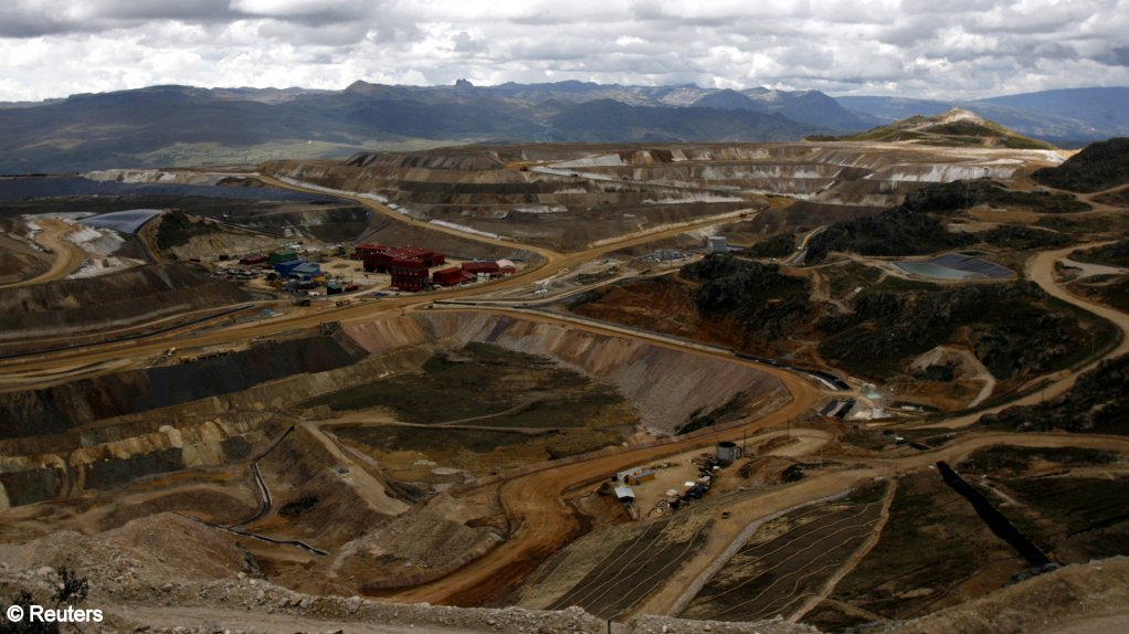 A panoramic view of Yanacocha Latin American's biggest gold mine in the Andean city of Cajamarca, north of Lima.