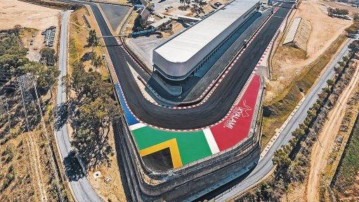 Aerial photo of the the Kyalami Grand Prix Circuit and International Convention Centre