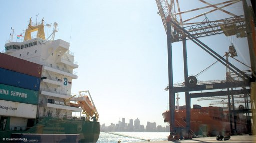 Photo of the Durban Container Terminal