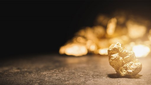 An image showing a gold nugget.