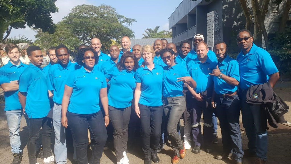 Image of The Africa team, in Richards Bay