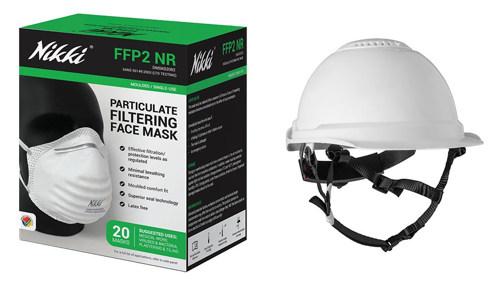 Image of hard hat and mask