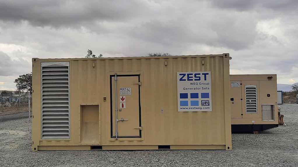 The two backup generators, one of 630kVA capacity and the other 330kVA, supplied by Zest WEG