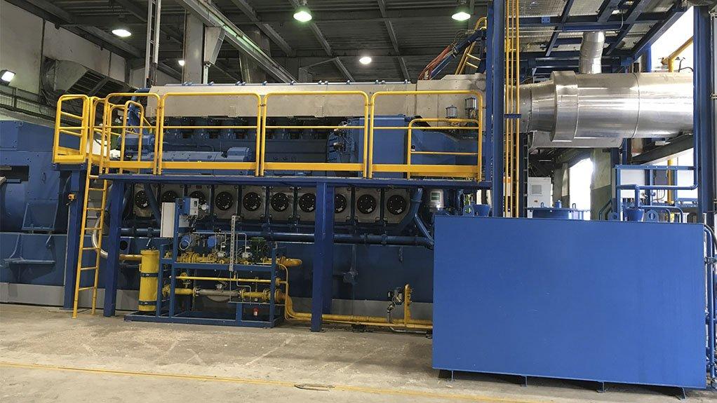 An image of the Wärtsilä Fuel-flexible 34DF engine generator that will be installed at Flour Mills Nigeria's premises