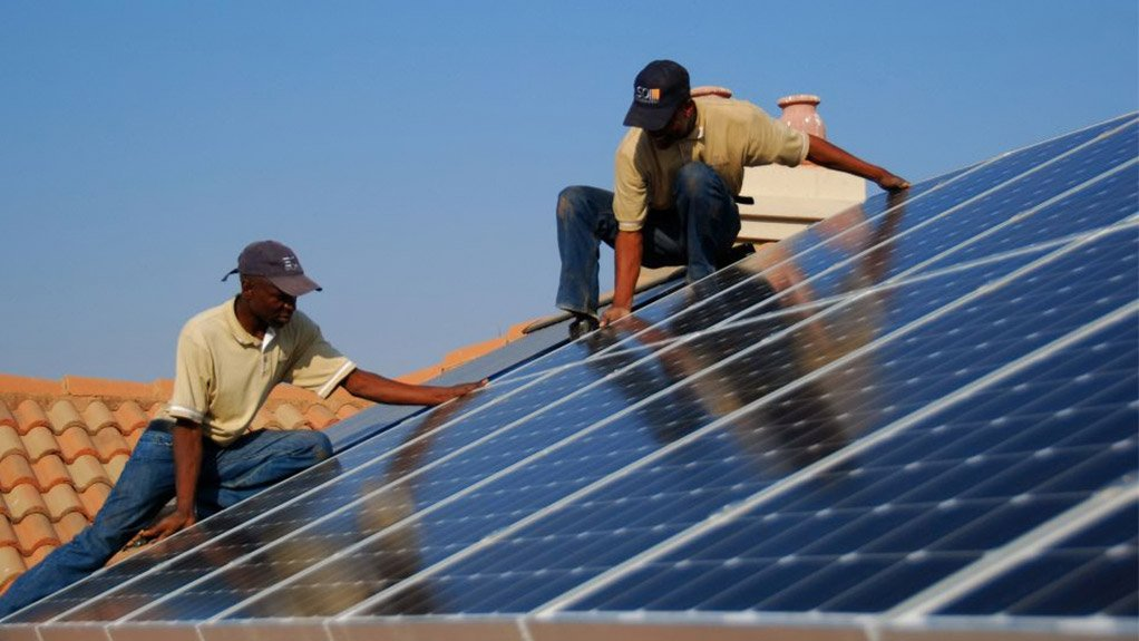An image of solar PV panels being installed
