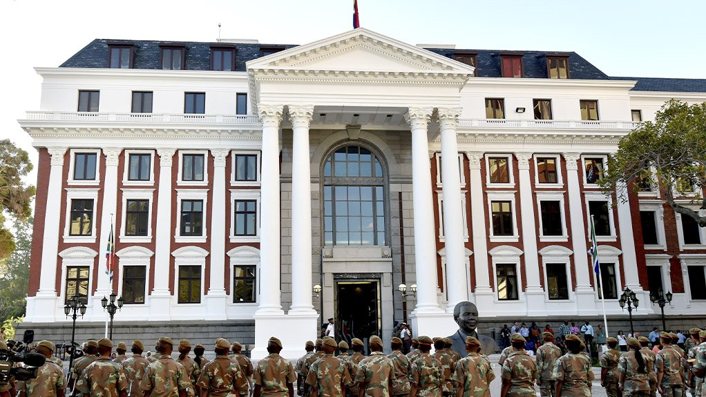 Image of the building of the South African Parliament