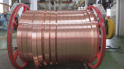 An image of manufactured copper product at South African metals supplier Non-Ferrous Metal Works' premises