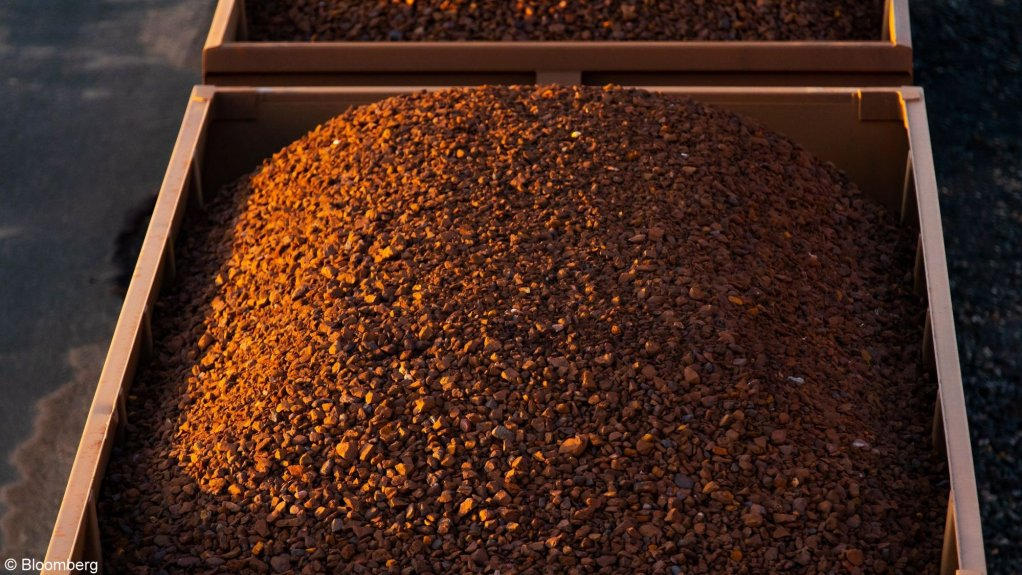 An image of a load of iron ore