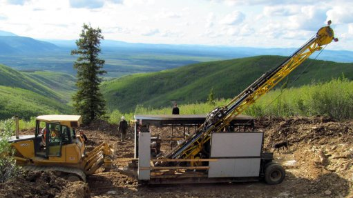 Drilling under way at a project site in Alaska