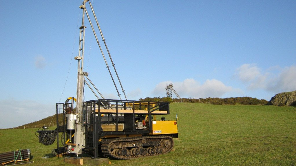 A drilling rig operating in North Wales