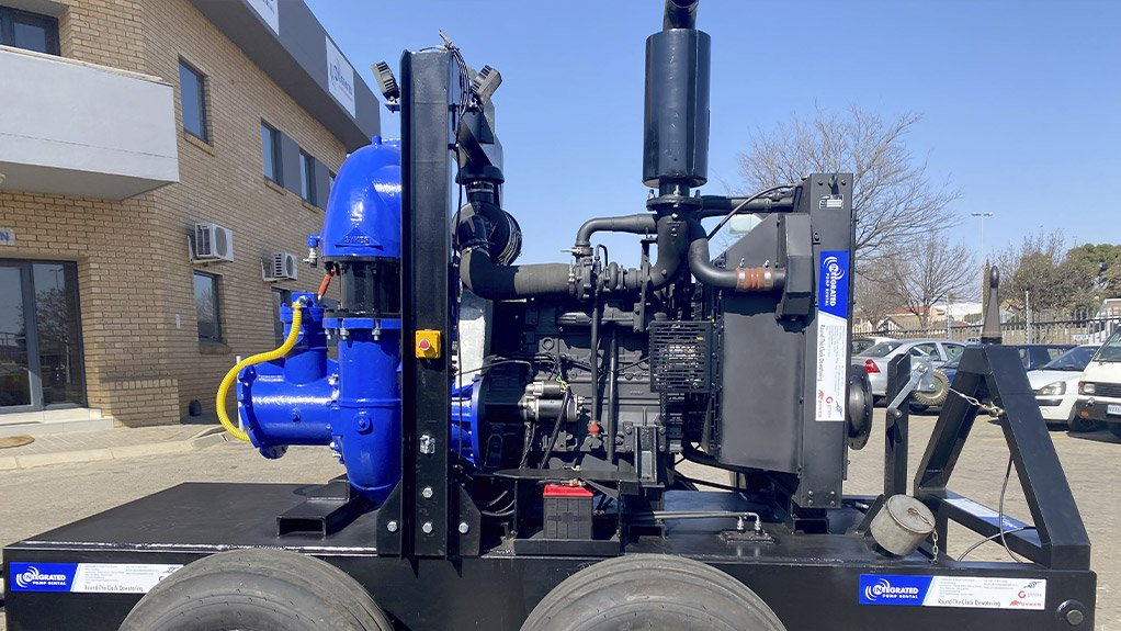 The refurbished Sykes CP205i which at a total head of 55 metres can still manage a flow of around 100 litres per second