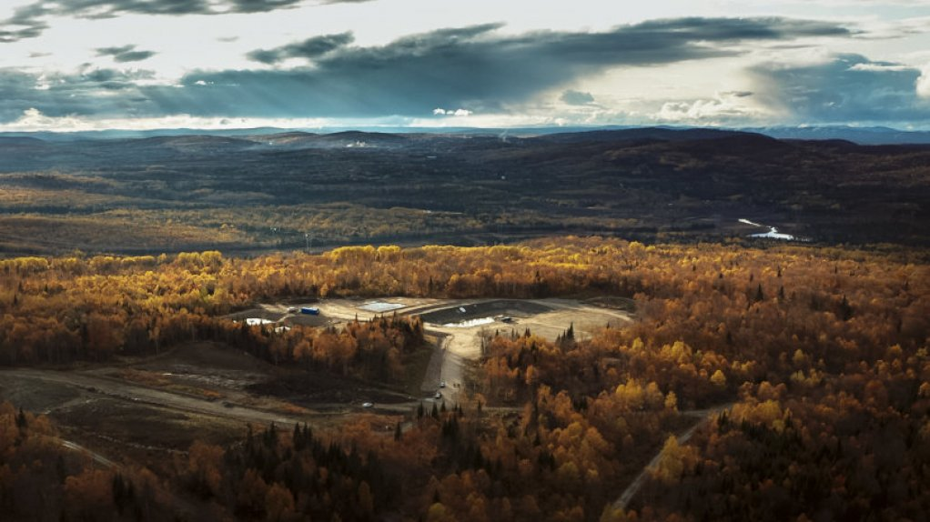 An aerial image of the Matawinie mine site in Quebec.