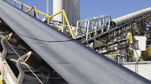 Mining materials conveyor belt with Aura IQ Conveyor Health Monitoring