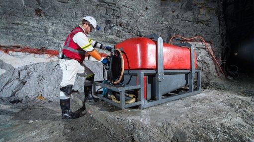 BME's emulsion pumping technology in underground mine