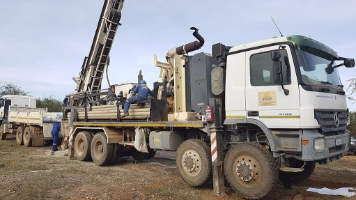An image of drilling at Celsius Resources' Opuwo project