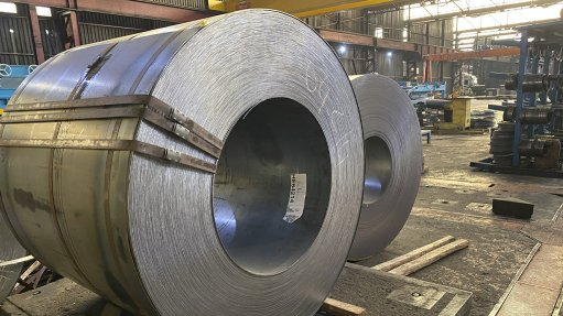 Steel supply at a Stewarts & Lloyds branch