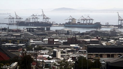 A photo of the Cape Town port