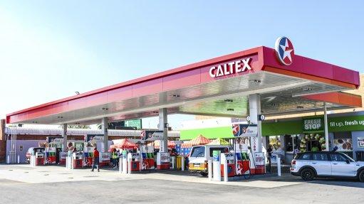 An image of a Caltex garage