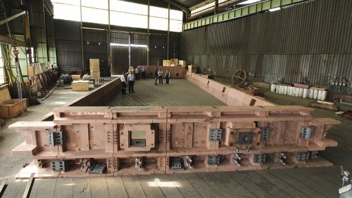 Thos Begbie manufacturing a copper inline arc furnace component from recycled copper