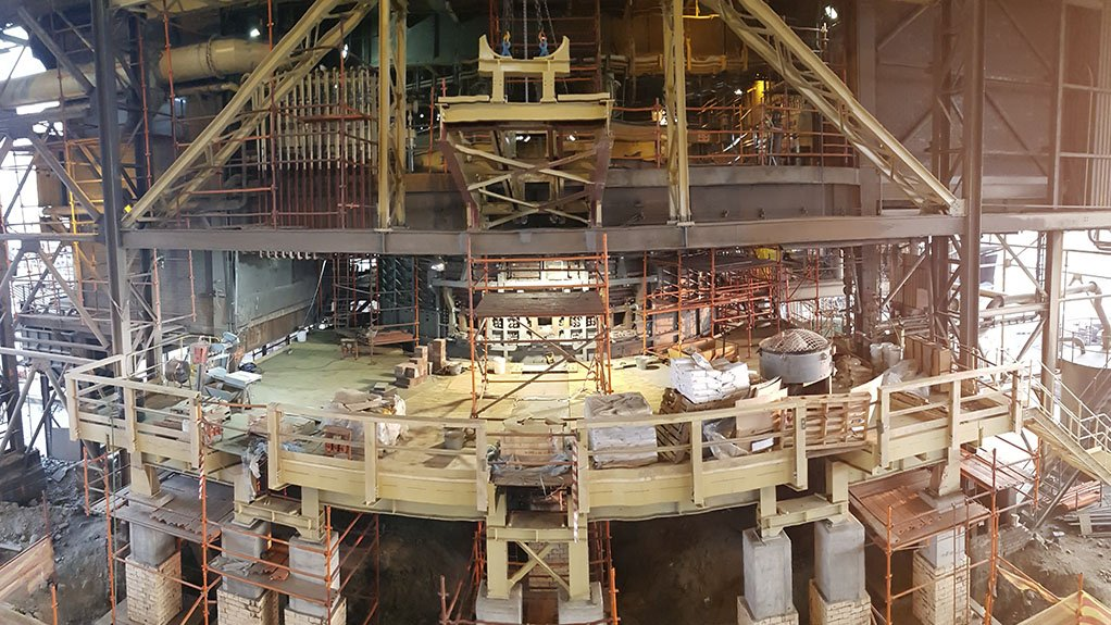 A large furnace being assembled and supplied to a platinum group metals client by Dickinson Group