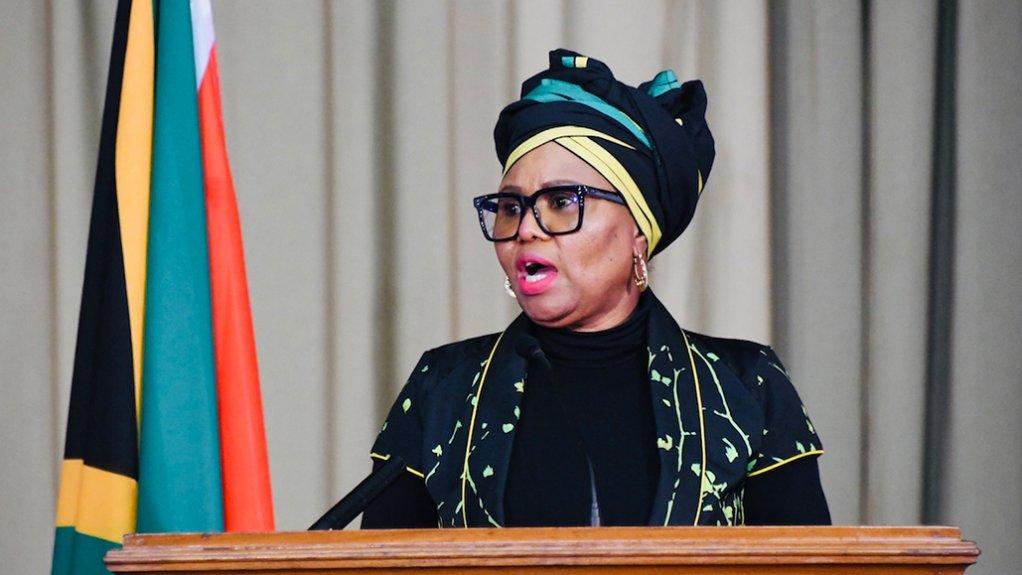 South African Social Development Minister Lindiwe Zulu