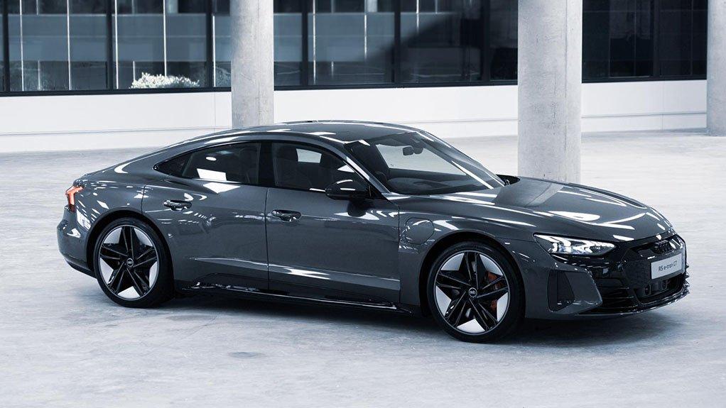 Image of a model in the Audi e-tron range
