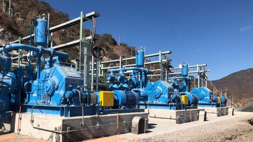 A photo of Abel HMQ pumps for mining