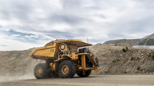 A photo of the Cat 794 AC electric drive truck