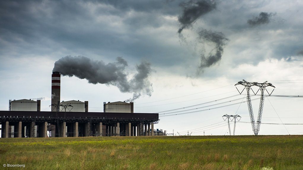 A coal-fired power station owned and operated by South African power utility Eskom