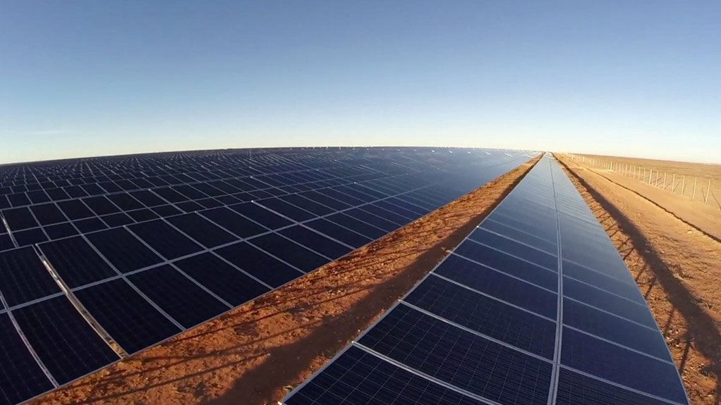 An image of solar PV panels.